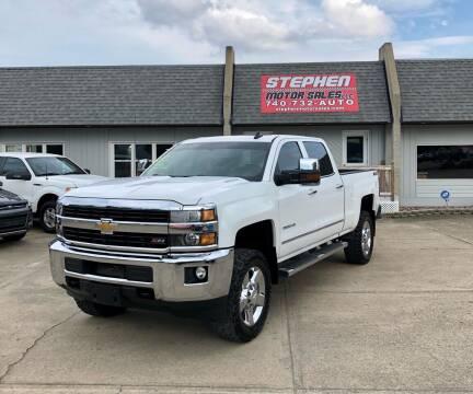 2015 Chevrolet Silverado 2500HD for sale at Stephen Motor Sales LLC in Caldwell OH