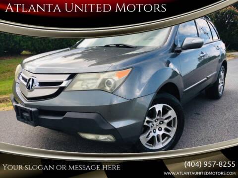 2008 Acura MDX for sale at Atlanta United Motors in Buford GA