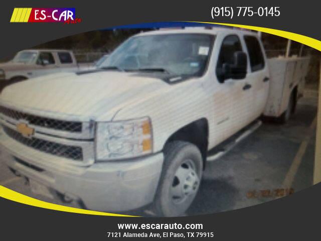 2013 Chevrolet Silverado 3500 HD Crew Cab & C for sale at Escar Auto in El Paso TX