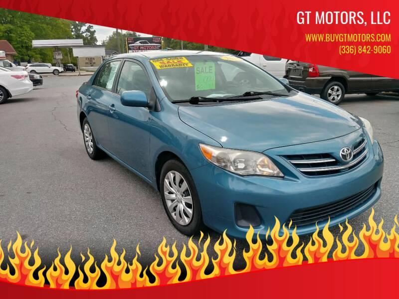 2013 Toyota Corolla for sale at GT Motors, LLC in Elkin NC