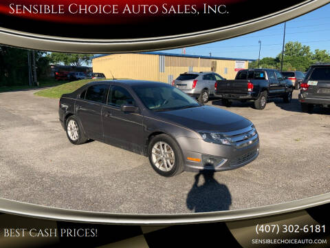 2012 Ford Fusion for sale at Sensible Choice Auto Sales, Inc. in Longwood FL