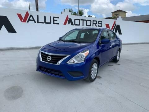 2017 Nissan Versa for sale at Value Motors Company in Marrero LA