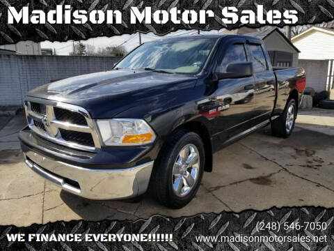 2010 Dodge Ram Pickup 1500 for sale at Madison Motor Sales in Madison Heights MI