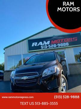 2016 Chevrolet Trax for sale at RAM MOTORS in Cincinnati OH
