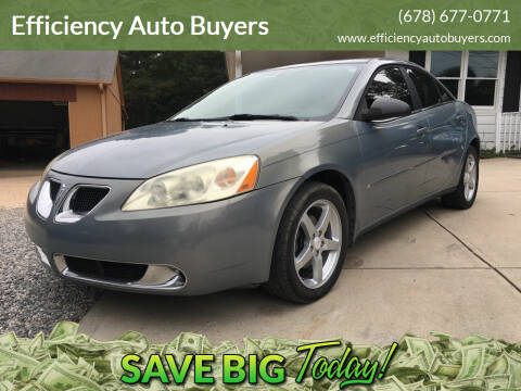 2007 Pontiac G6 for sale at Efficiency Auto Buyers in Milton GA