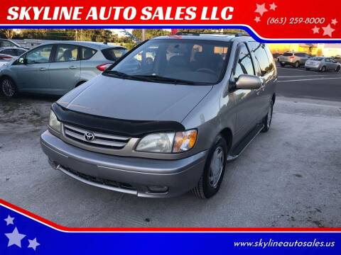 2001 Toyota Sienna for sale at SKYLINE AUTO SALES LLC in Winter Haven FL