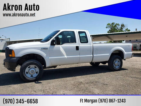 2006 Ford F-250 Super Duty for sale at Akron Auto - Fort Morgan in Fort Morgan CO