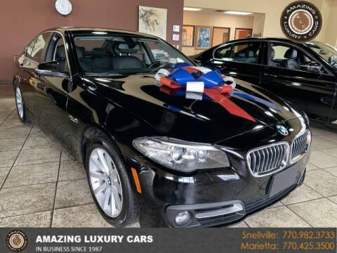 2015 BMW 5 Series for sale at Amazing Luxury Cars in Snellville GA