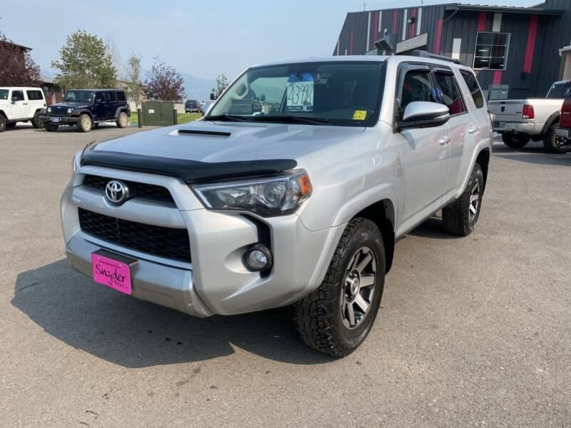 2019 Toyota 4Runner for sale at Snyder Motors Inc in Bozeman MT