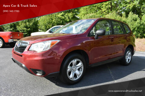 2014 Subaru Forester for sale at Apex Car & Truck Sales in Apex NC