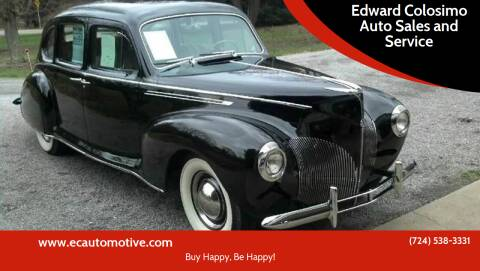 1940 Lincoln Zephyr for sale at Edward Colosimo Auto Sales and Service in Evans City PA