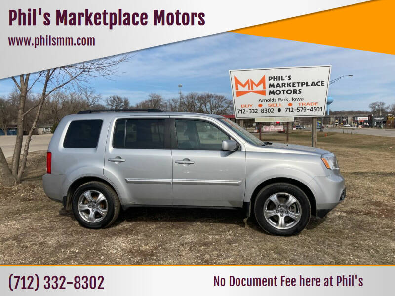 2013 Honda Pilot for sale at Phil's Marketplace Motors in Arnolds Park IA