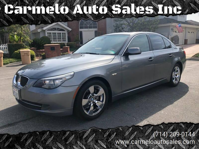 2008 BMW 5 Series for sale at Carmelo Auto Sales Inc in Orange CA