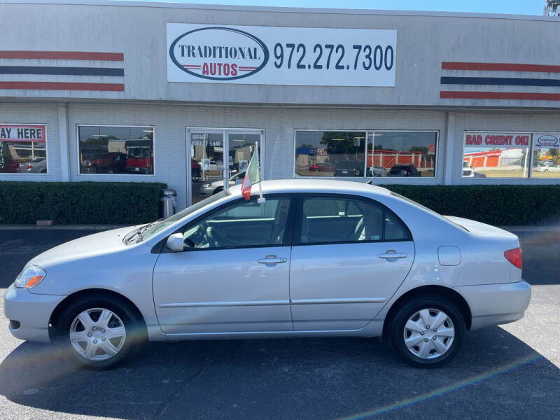 2006 Toyota Corolla for sale at Traditional Autos in Dallas TX