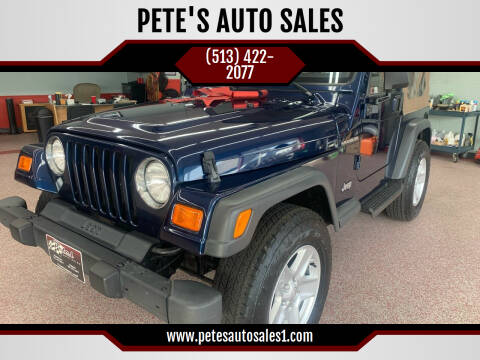 2000 Jeep Wrangler for sale at PETE'S AUTO SALES - Middletown in Middletown OH