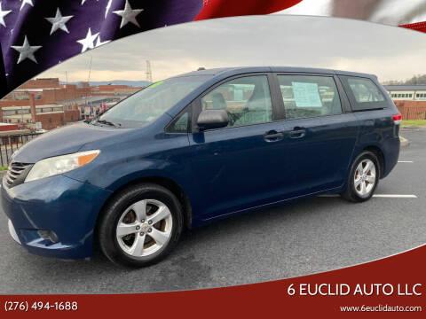 2011 Toyota Sienna for sale at 6 Euclid Auto LLC in Bristol VA