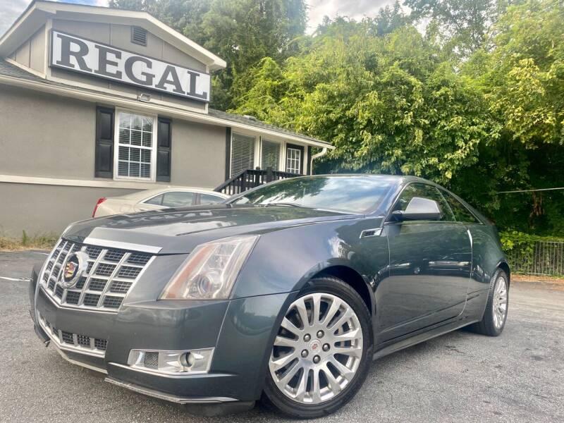 2013 Cadillac CTS for sale at Regal Auto Sales in Marietta GA