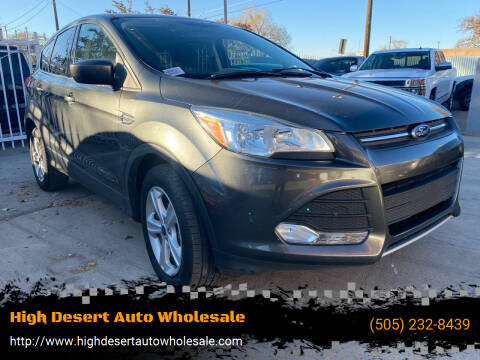 2016 Ford Escape for sale at High Desert Auto Wholesale in Albuquerque NM