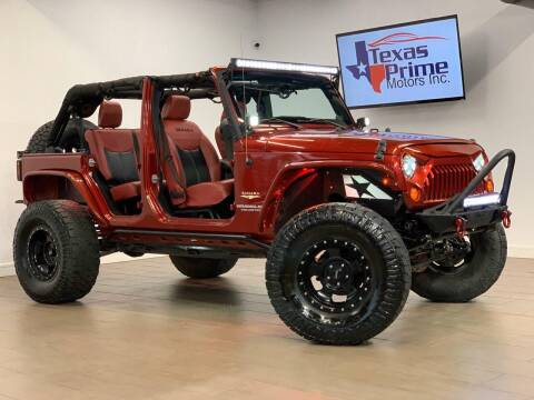 2013 Jeep Wrangler Unlimited for sale at Texas Prime Motors in Houston TX