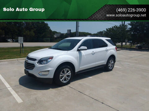 2016 Chevrolet Equinox for sale at Solo Auto Group in Mckinney TX