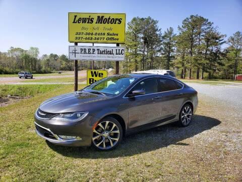 2015 Chrysler 200 for sale at Lewis Motors LLC in Deridder LA