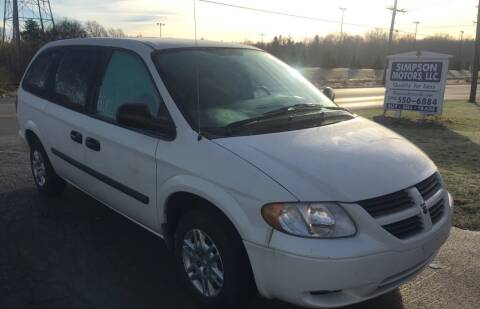 2006 Dodge Grand Caravan for sale at SIMPSON MOTORS in Youngstown OH