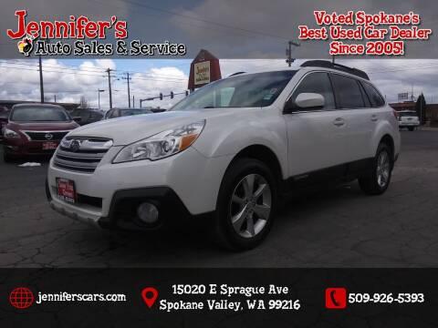 2014 Subaru Outback for sale at Jennifer's Auto Sales in Spokane Valley WA