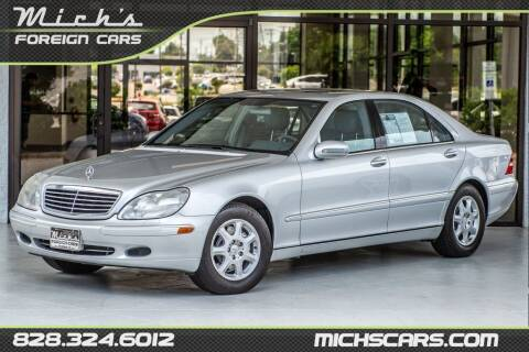 2001 Mercedes-Benz S-Class for sale at Mich's Foreign Cars in Hickory NC