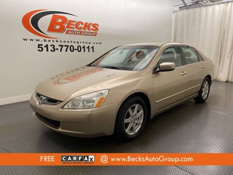 2004 Honda Accord for sale at Becks Auto Group in Mason OH