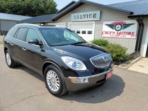 2012 Buick Enclave for sale at CRUZ'N MOTORS in Spirit Lake IA