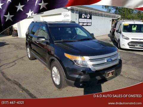 2012 Ford Explorer for sale at D & D Auto Sales Of Onsted in Onsted   Brooklyn MI