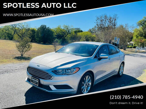 2017 Ford Fusion for sale at SPOTLESS AUTO LLC in San Antonio TX