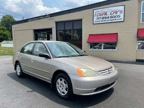 2002 Honda Civic for sale at I-Deal Cars LLC in York PA