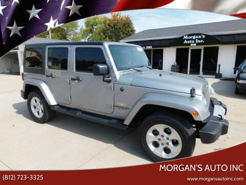 2015 Jeep Wrangler Unlimited for sale at Morgan's Auto Inc in Paoli IN