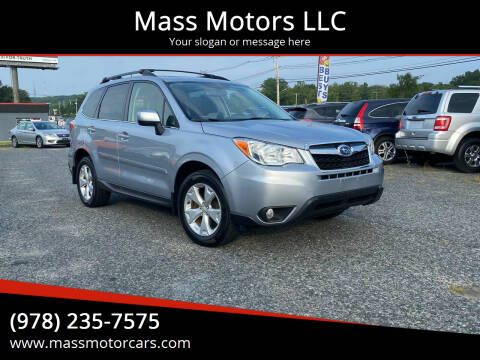 2015 Subaru Forester for sale at Mass Motors LLC in Worcester MA