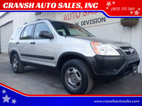 2002 Honda CR-V for sale at CRANSH AUTO SALES, INC in Arlington TX