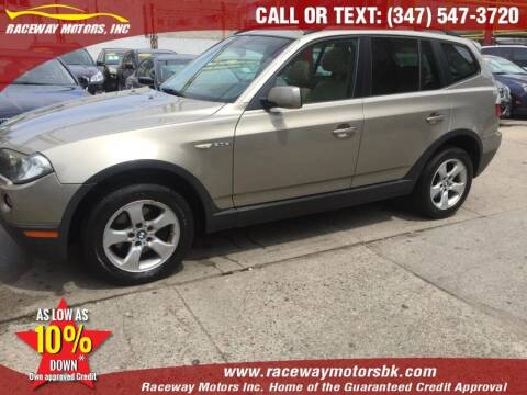 2008 BMW X3 for sale at Raceway Motors Inc in Brooklyn NY