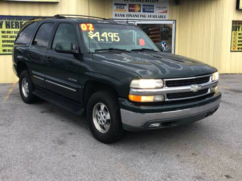 2002 Chevrolet Tahoe for sale at Mr. G's Auto Sales in Shelbyville TN