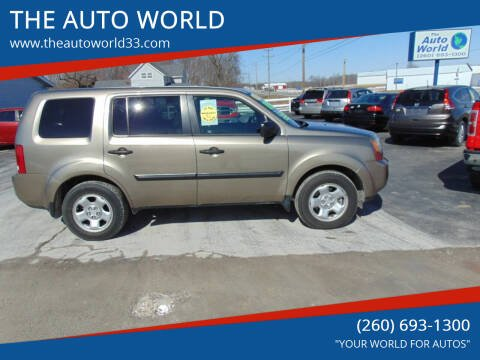 2010 Honda Pilot for sale at THE AUTO WORLD in Churubusco IN