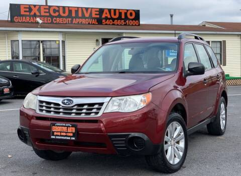 2012 Subaru Forester for sale at Executive Auto in Winchester VA