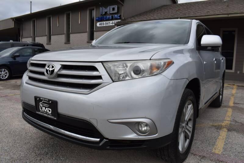 2012 Toyota Highlander for sale at IMD Motors in Richardson TX