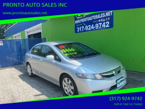 2010 Honda Civic for sale at PRONTO AUTO SALES INC in Indianapolis IN