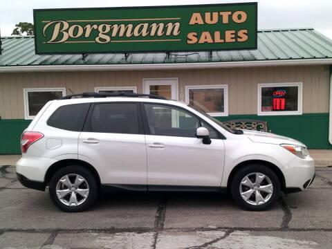 2015 Subaru Forester for sale at Borgmann Auto Sales in Norfolk NE