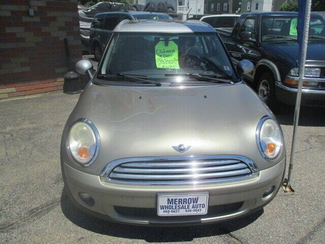 2009 MINI Cooper Clubman for sale at MERROW WHOLESALE AUTO in Manchester NH