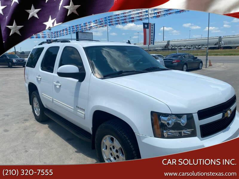 2012 Chevrolet Tahoe for sale at Car Solutions Inc. in San Antonio TX