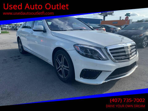 2016 Mercedes-Benz S-Class for sale at Used Auto Outlet in Orlando FL