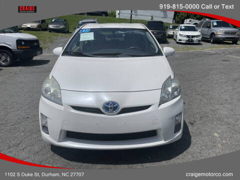 2010 Toyota Prius for sale at CRAIGE MOTOR CO in Durham NC