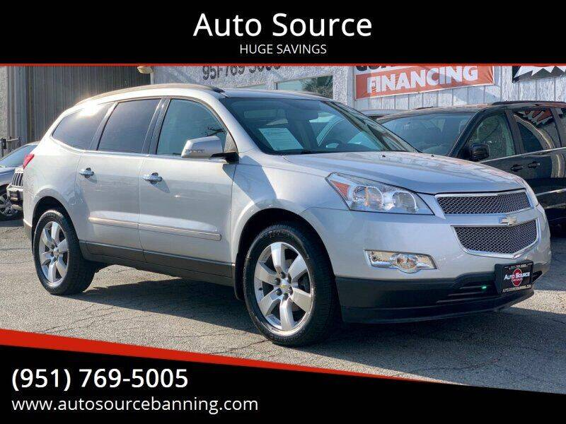2012 Chevrolet Traverse for sale at Auto Source in Banning CA