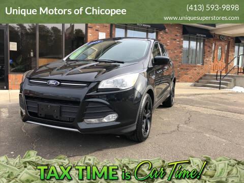 2015 Ford Escape for sale at Unique Motors of Chicopee in Chicopee MA