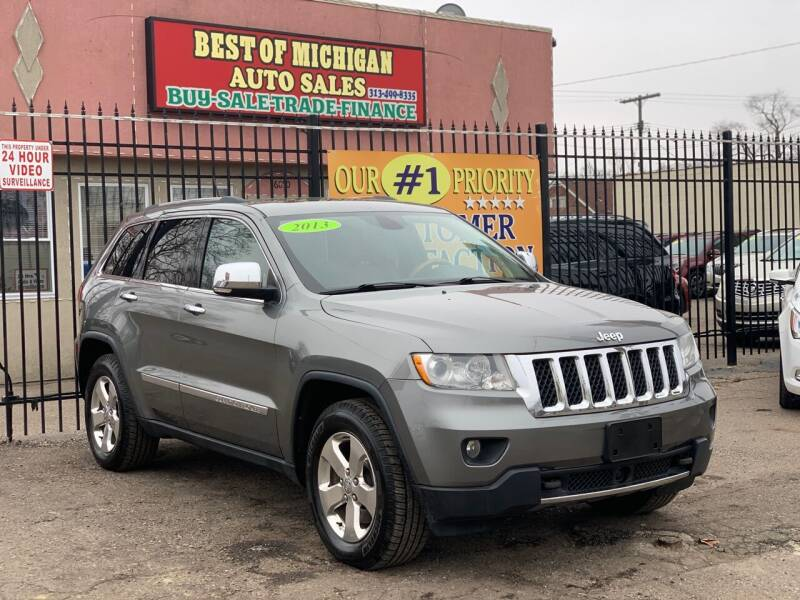 2013 Jeep Grand Cherokee for sale at Best of Michigan Auto Sales in Detroit MI